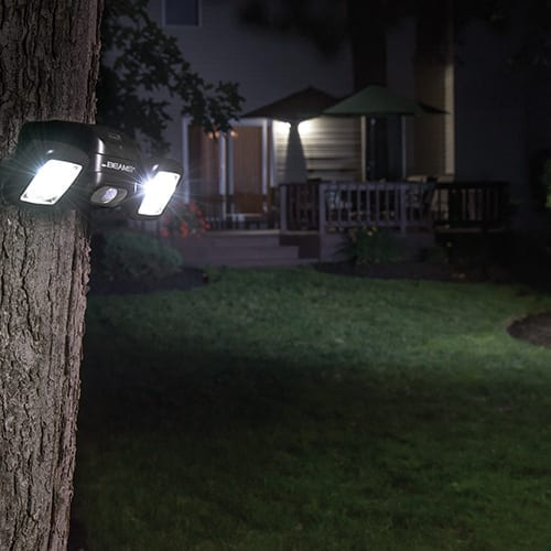 500 LUMEN FLOODLIGHT – TC3000 PACK OF 2 on tree in garden