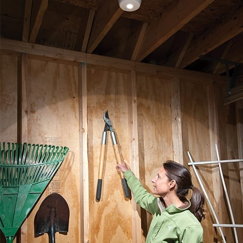 What is the best lighting for a shed?